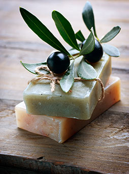 Soaps made with aroma chemicals