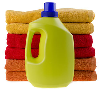 Laundry Bottle with towels